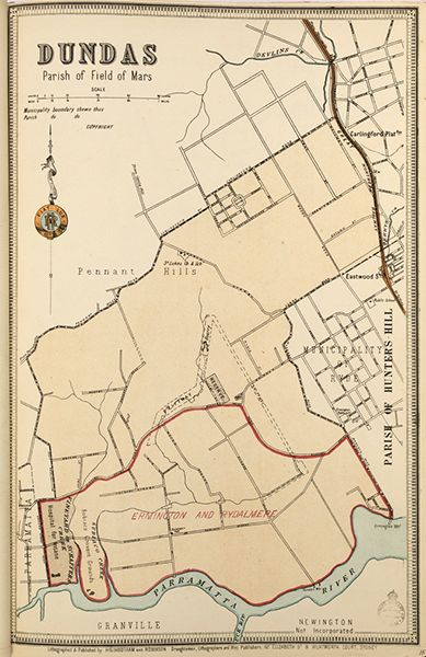 Dundas borough map. Available to purchase as an archival print. Contact the Library Shop for details. Print number C006720017