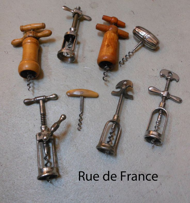 Old French kitchen wine bottle openers cork screws
