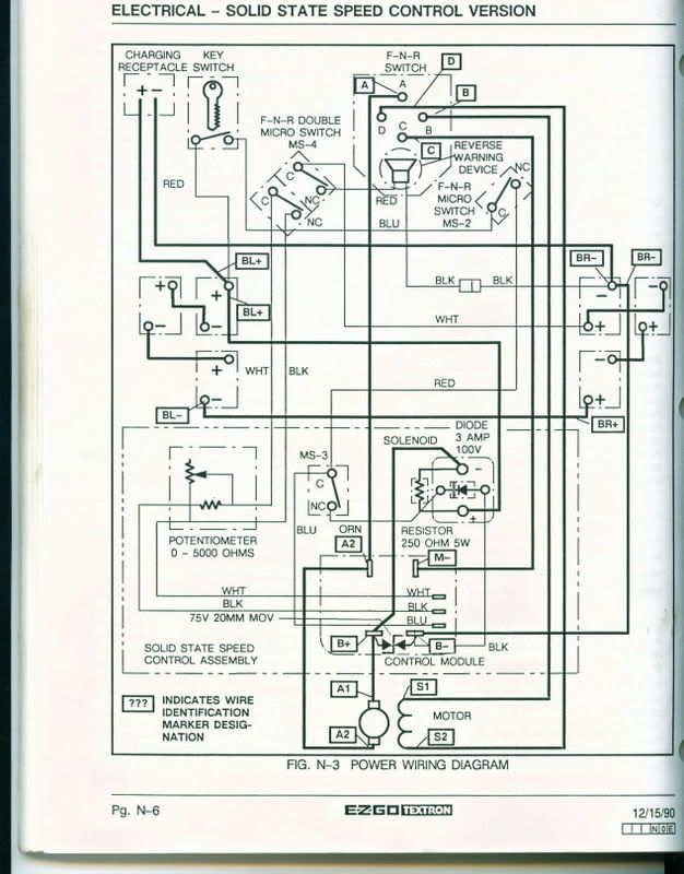 Ezgo Golf Cart Wiring Diagram Ezgo Wiring Diagram 1980 81 Gas Golf