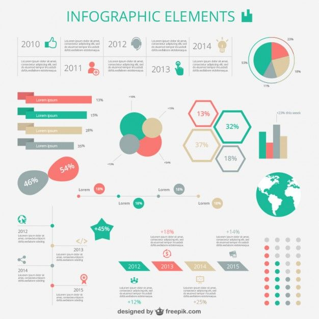 Retro infography Free Vector