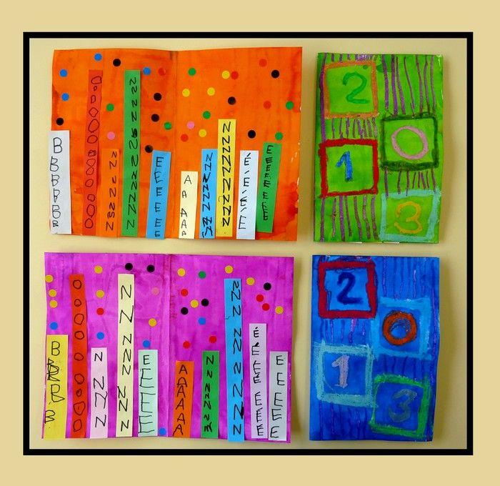 Cette année, 2013 commence en couleurs! Voici la carte de vœux que nous avons réalisée dans ma classe de moyenne section. Il fa...