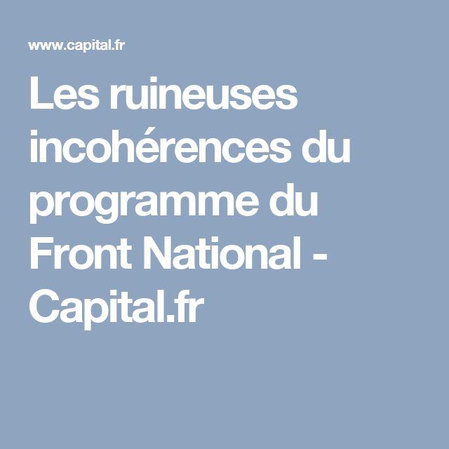 Les ruineuses incohérences du programme du Front National  - Capital.fr