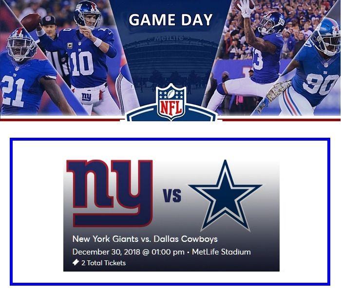 56d656a74 NY Giants vs Dallas Cowboys at MetLife Stadium DATE  December 30 ...