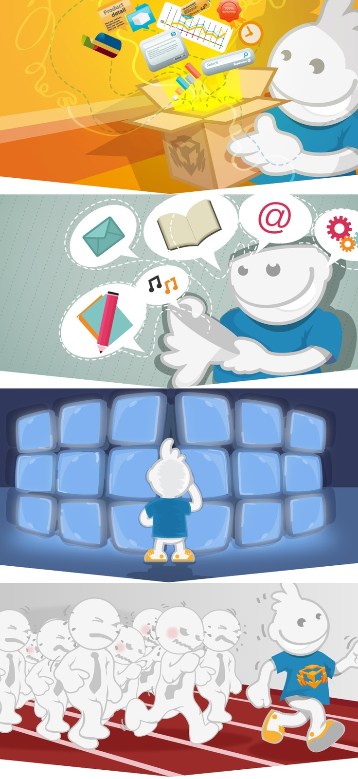 Illustrations by Polish web design studio Merixstudio.com