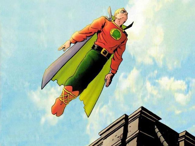 "The golden age Green Lantern,  Alan Scott.  (Not the ""New 52/Earth 2"" version)."