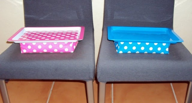 roadtrip dollar store lap desk:       All you need is a little tray, a placemat, a large and small bag of beans, hot glue, foam core, and super glue. Follow the instructions for making the pillow (you can find them in my last post, here) and super glue it to the under side of the tray.  That's it!