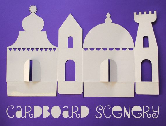 Cardboard scenery templates (great use for those cereal + package boxes in your craft box)