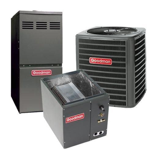 Goodman 2.5 Ton 13 SEER 80% AFUE Gas Furnace and Air Conditioner System - Upflow