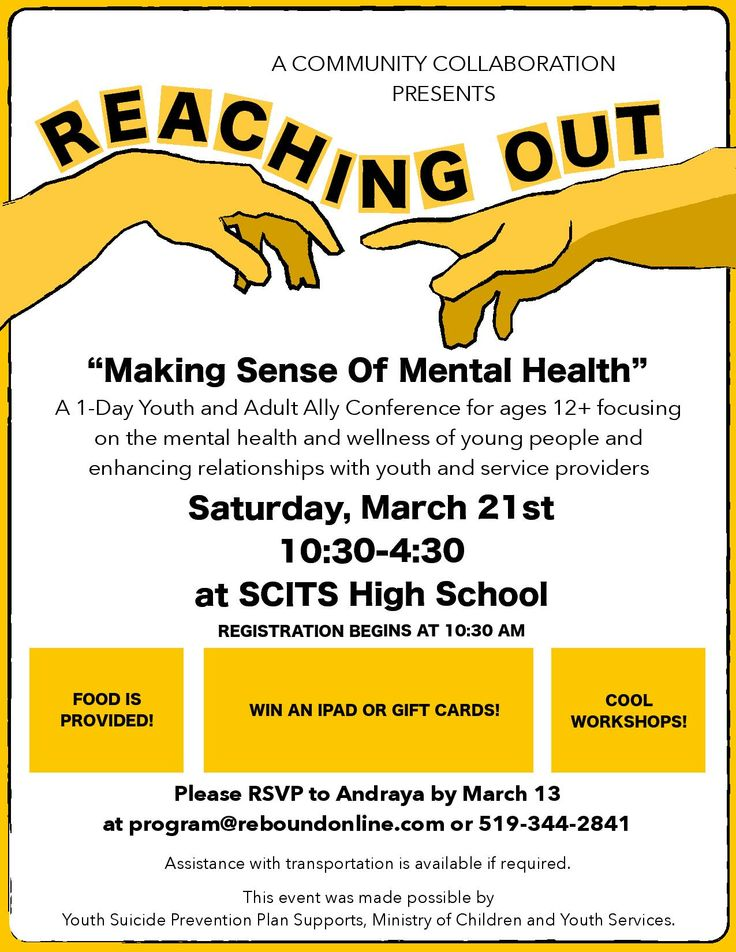"""For youth! """"Making Sense of Mental Health"""""""