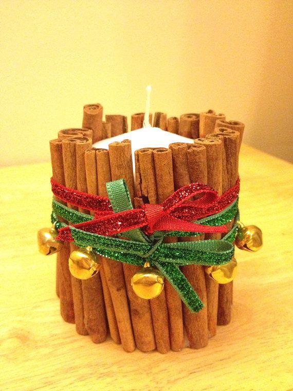 Cinnamon jingle bells candle on Etsy, £5.00