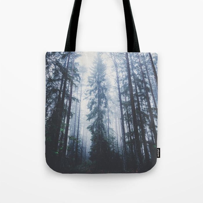 The mighty pines Tote Bag by HappyMelvin. #totebag #nature #wanderlust #forest #bags