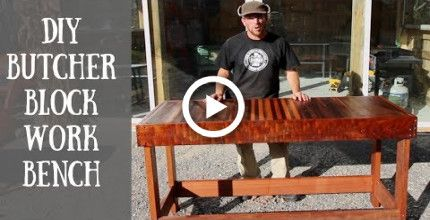 Miraculous Building A Diy Butcher Block Work Bench Farmhouse Diy Alphanode Cool Chair Designs And Ideas Alphanodeonline