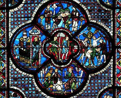 Catedrais Medievais: Vitrais da catedral de CHARTRES: representação da beleza; e na beleza, a suma verdade