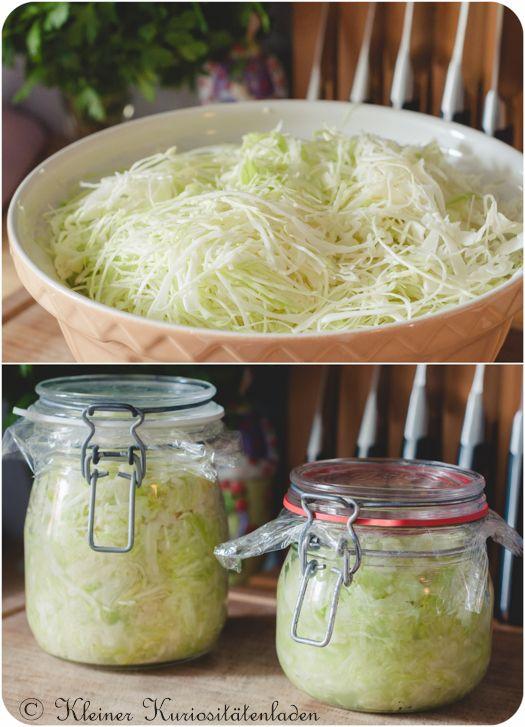frisch angesetztes Sauerkraut