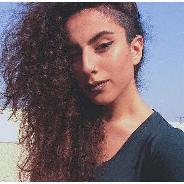 Lovely Long Thick Curly Hair & Side Shave Thanks @malolatif #UCFeed #BuzzCutFeed #Undercut ...