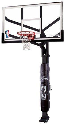 "Spalding NBA Arena View In-Ground Basketball System - 72"" Steel Framed Glass Backboard"
