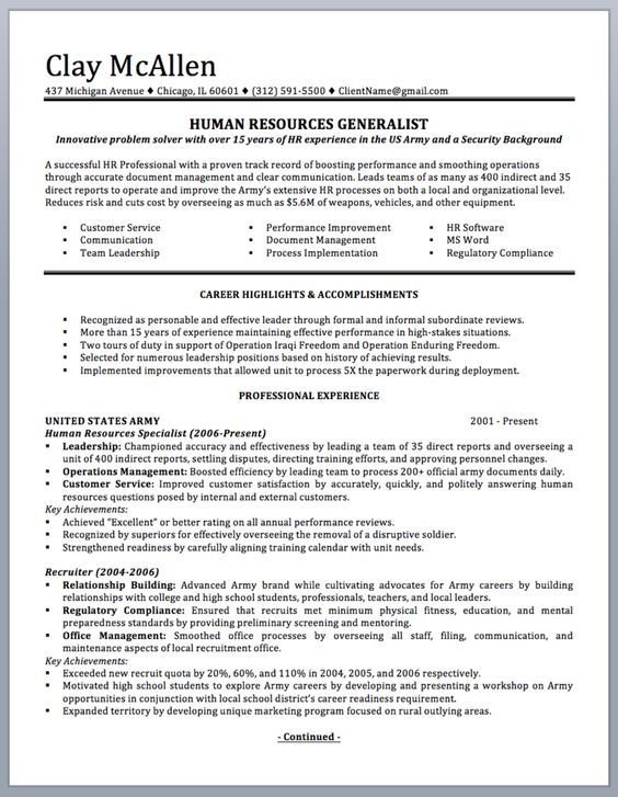 8 best Resume images on Pinterest Cover letters, Cv template and - military social worker sample resume