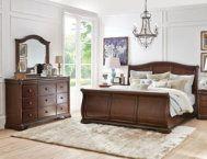 Rochelle King Sleigh Bed - Art Van Furniture