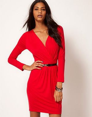 wrap+red+dress | Dressed to kill: 8 red dresses to knock em dead this Autumn
