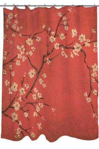 17 Best Cherry Blossom Shower Curtain Images On Pinterest Japanese