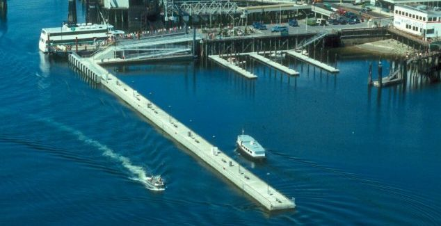 Bremerton floating pier, floating tubular honeycomb structure, http://yook3.com, Wilfried Ellmer, ocean business development.