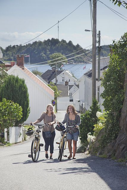 Grimstad, Norway by bicycle (Biodden)