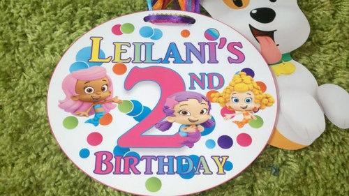 Bubble Guppies Door Tag Birthday Party Decoration