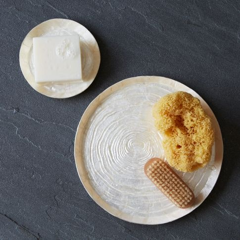 Capiz Trays | west elm - small one for the soap in the shower