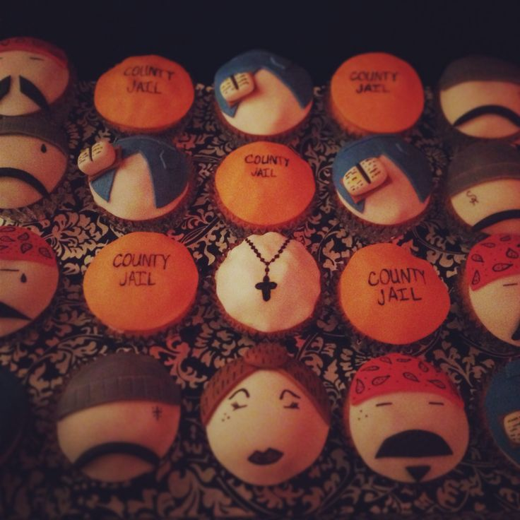 Cholo and chola cupcakes made for me by my friend Kelly Lopez-Ramirez .