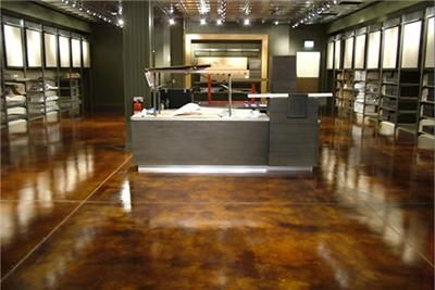 I Love This Polished Concrete Floor It Was Stained Dark