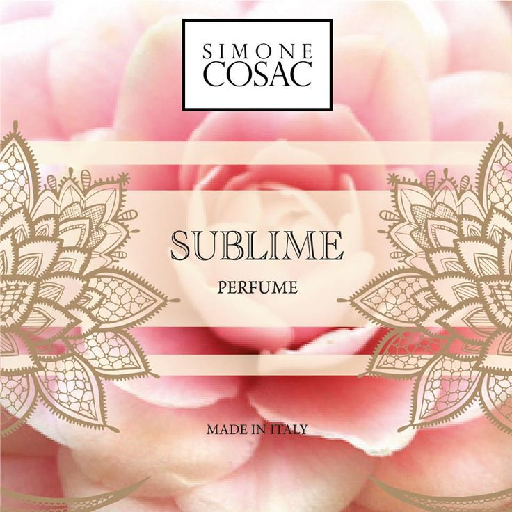 SUBLIME one of the new Perfumes of Simone Cosac.