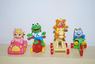 1987 McDonalds Set of 4 MUPPET BABIES Happy Meal Kid's Toys Complete Set RARE