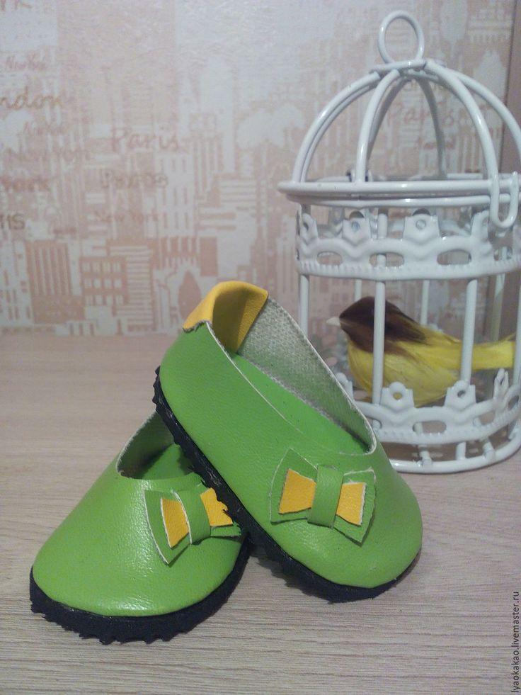 Купить Кукольная обувь - комбинированный, обувь для кукол, кукольная обувь, туфли для кукол, ручная работа