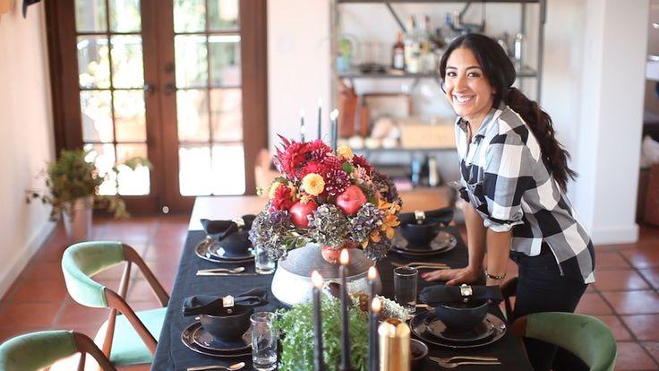 Veronica Valencia - Vibrant Fall Floral & Fruit Arrangement For LEAF TV | The Design Hunters