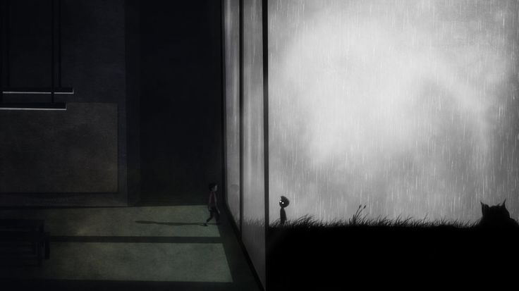 INSIDE : video gameplay : Little Jack looks back to see a recorded shadow of himself. Possible traces of his soul/consciousness when he returns to room at the end which he sets free.