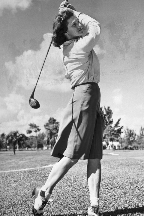 1911-1956  STAR ATHLETE  This Olympic track and field champ and golf whiz (36 LPGA titles) made it okay for women to let the world see how much they wanted to win. Another athlete as astonishing as she, Jackie Joyner-Kersee (1962- ), battled asthma to become an Olympic champ and holder of the women's heptathlon world record.