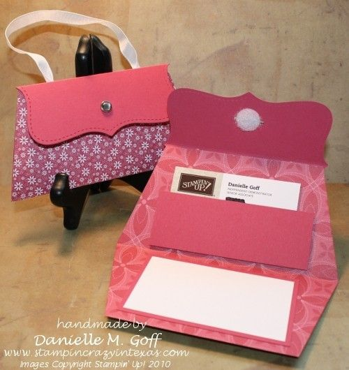 Handbag envelopes. - for a gift card or money gift - cute...