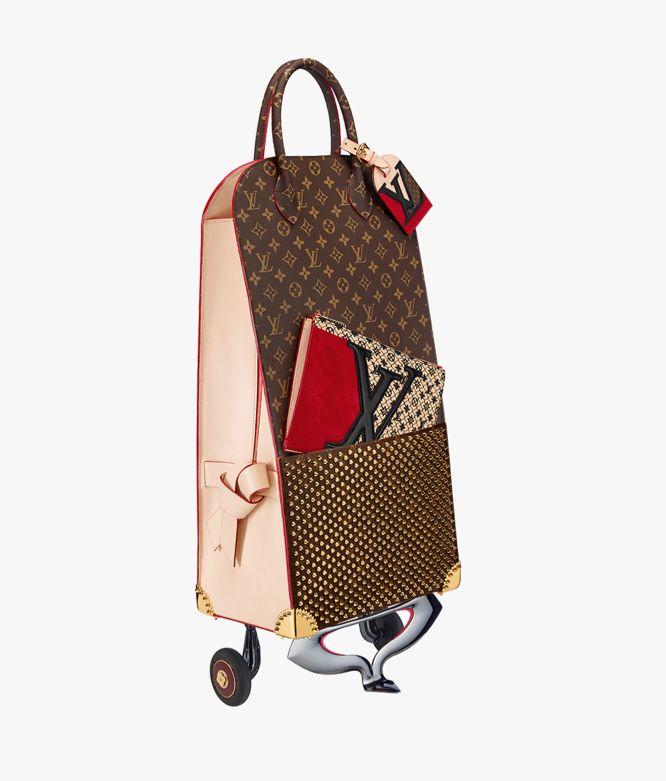 Christian Louboutin Shopping Trolley for Louis Vuitton