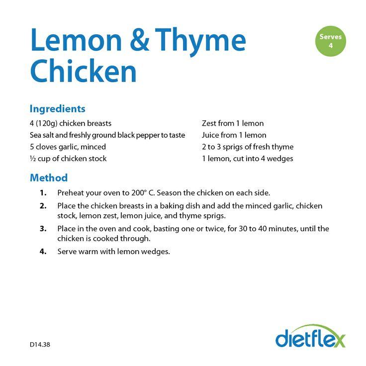 Lemon and Thyme Chicken #HealthyRecipes #dietflex