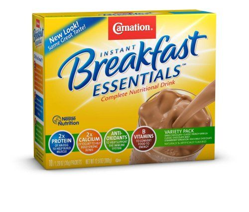 Carnation Instant Breakfast Essentials, Variety Pack, 10 count, 1.26-Ounce Units (Pack of 3) - http://sleepychef.com/carnation-instant-breakfast-essentials-variety-pack-10-count-1-26-ounce-units-pack-of-3/