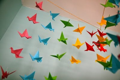 another cute origami mobile idea