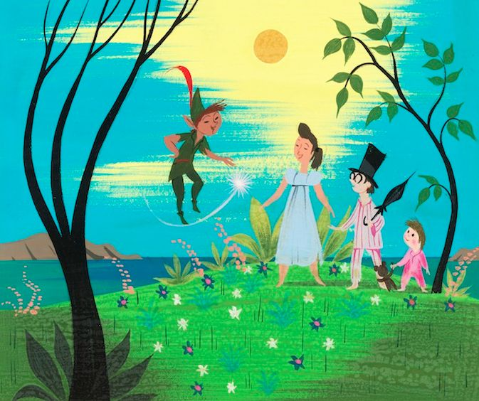 Peter Pan art by Mary Blair.