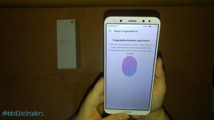 Fingerabdrucksensor einrichten: Huawei Mate 10 Lite / #Mate10LiteInsiders