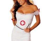 Women's Naughty Nurse Costume New Arrival Let's Play Doctor Sexy Nurse Costume 3 Pc