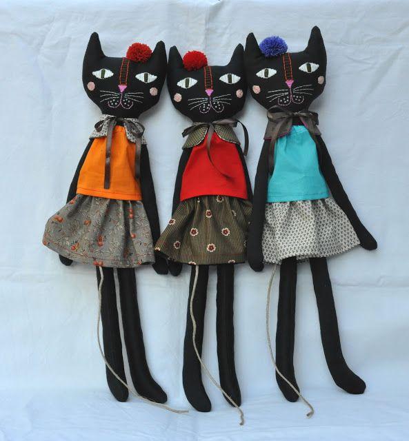 ESZTERDA: hand made rag doll cat