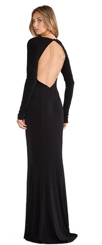 Effortless, sexy, stunning. LIANA BACKLESS JERSEY GOWN | Silk&Burlap