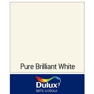 dulux once satinwood paint pure brilliant white for. Black Bedroom Furniture Sets. Home Design Ideas