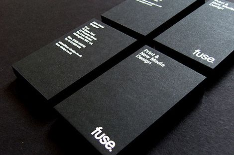 Black and white business cards by Fuse Design _