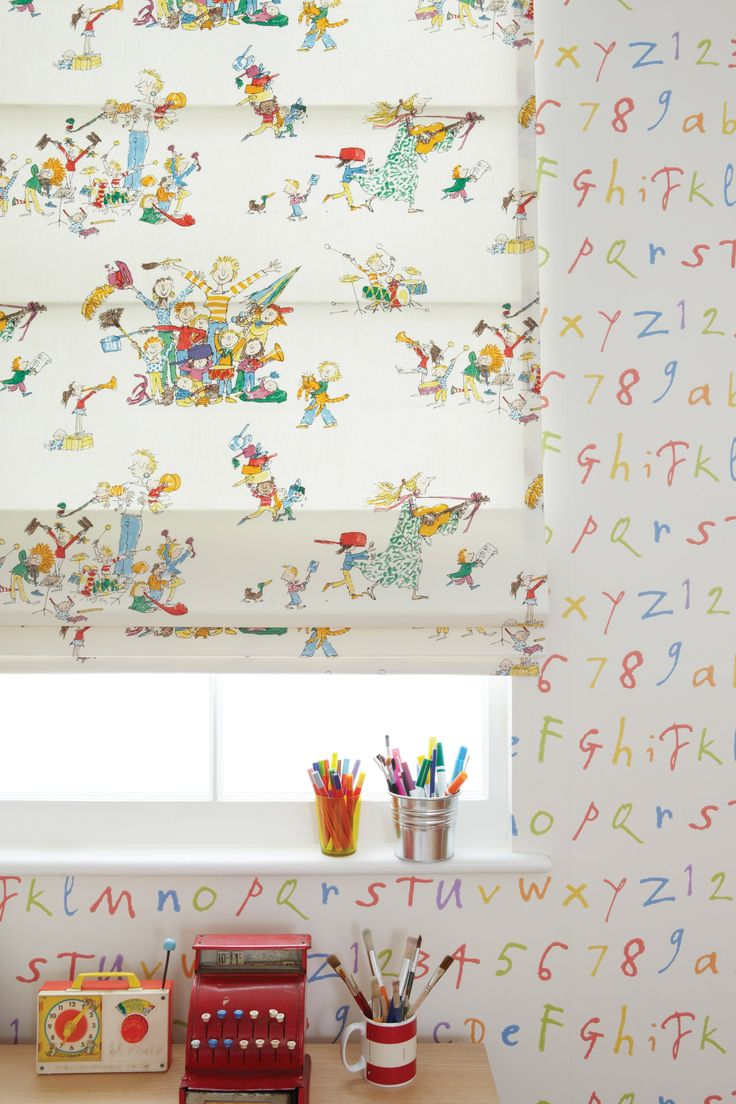 Fabrics and wallpaper by Quentin blake
