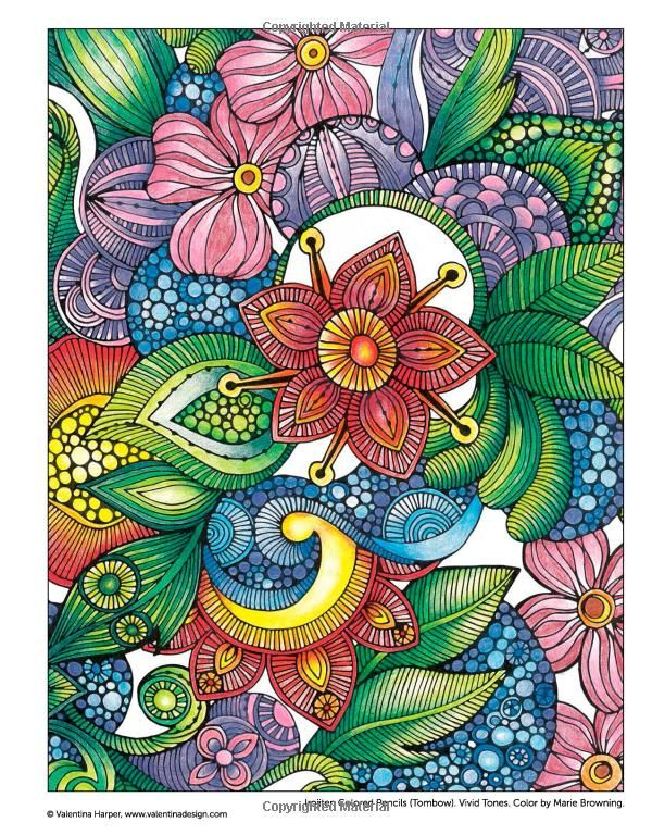 Creative Coloring Flowers Art Activity Pages To Relax And Enjoy Valentina Harper